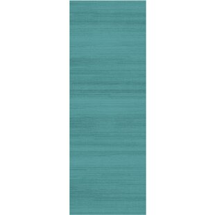 Coupon Text Ocean Blue Indoor/Outdoor Area Rug By Ruggable