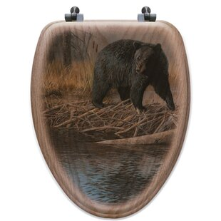 WGI-GALLERY No Trespassing Oak Elongated Toilet Seat