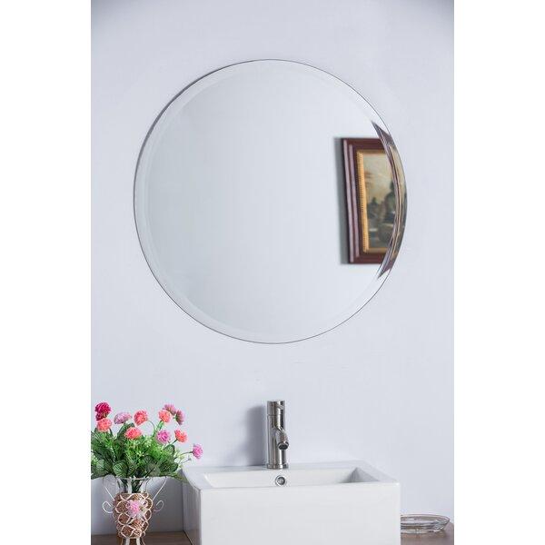 Bellaterra Home Round Frameless Bathroom Vanity Wall Mirror Reviews