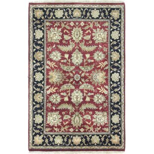 Compare prices One-of-a-Kind Fitzhugh Hand-Woven Red/Black Area Rug ByAstoria Grand