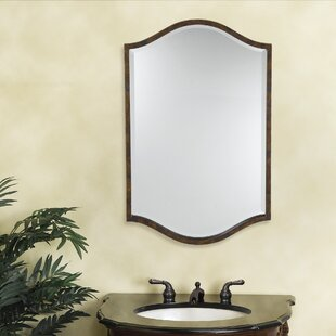Purchase Linda Walnut Plastic Frame Mirror By Fleur De Lis Living