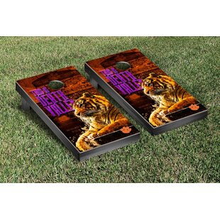 Victory Tailgate NCAA Clemson Tigers This Is Death Valley Version Cornhole Game Set