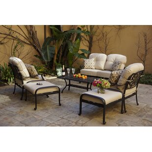 Bulluck 6-Piece Conversation Loveseat Set with Cushions and Pillows
