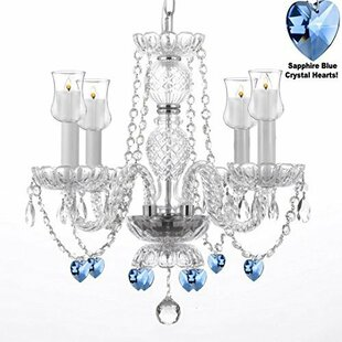 Rosdorf Park Raemoore 4-Light Shaded Chandelier