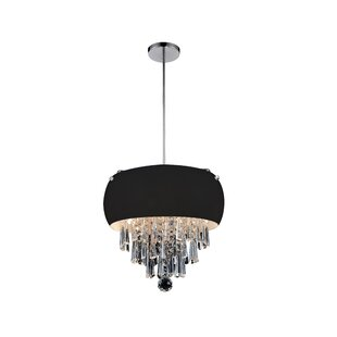 4-Light Drum Chandelier by CWI Lighting