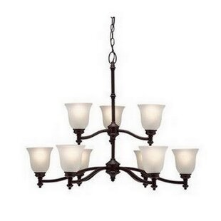 Janette 9-Light Shaded Chandelier by Charlton Home