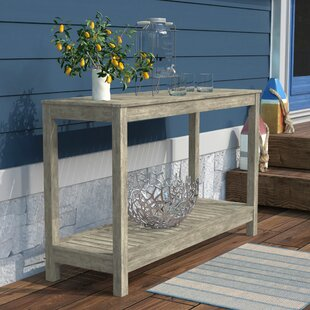 Englewood Wooden Console Table by Beachcrest Home Cheap