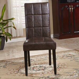 Classic Waxed Texture Parsons Chair (Set of 2) by Bellasario Collection