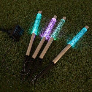 Hedger 1-Light LED Decorative Light (Set Of 4) By Sol 72 Outdoor