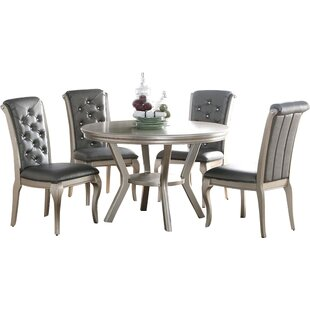 Adele 5 Piece Dining Set by Infini Furnishings Savings