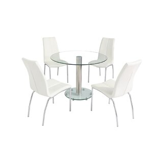 Dunstable Dining Set With 4 Chairs By Wade Logan