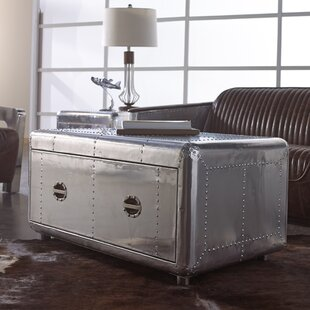 Lazzaro Leather Lindbergh Bomber Coffee Table