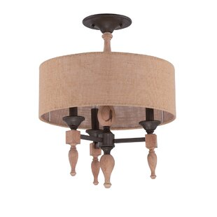 Ophelia & Co. Lago Vista 3-Light Semi Flush Mount