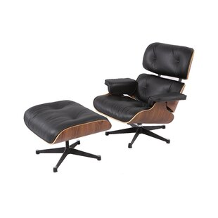 Emilio Swivel Lounge Chair and Ottoman by Corrigan Studio