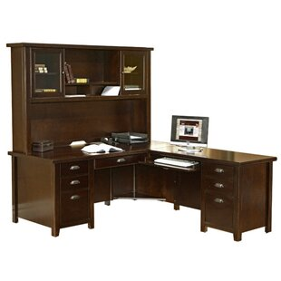 Affordable Michal Left L-Shape Executive Desk with Hutch By Canora Grey