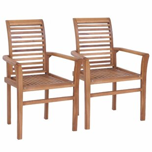 Krisha Solid Wood Dining Chair (Set Of 2) By Sol 72 Outdoor