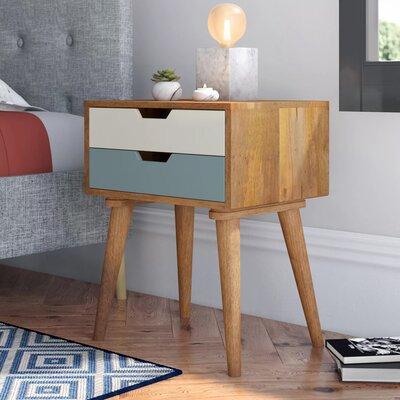 Nachttisch mit 2 Schubladen | Schlafzimmer > Nachttische | Mangoholz | Hazelwood Home