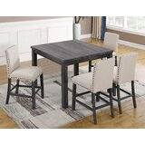 5 Piece Pub Table Set by BestMasterFurniture
