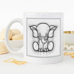 Captivating Childrens Elephant Art Coffee Mug