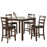 Hower Wooden 5 Pieces Counter Height Dining Set by Alcott Hill®