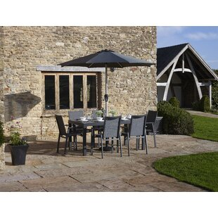 Johnsi 6 Seater Dining Set With Parasol By Sol 72 Outdoor