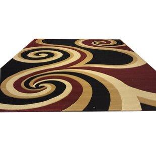 Reviews Hand-Carved Black/Brown/Red Area Rug ByRug Tycoon