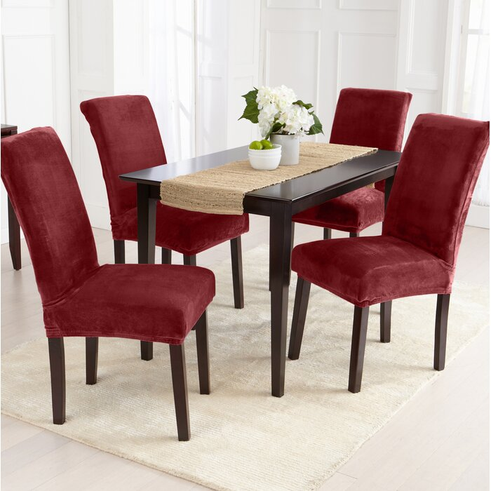 Velvet Plush Dining Chair Slipcover