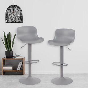 Declo Swivel Adjustable Height 32 Bar Stool Set of 2 by Latitude Run