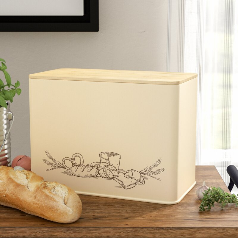 Laurel Foundry Modern Farmhouse Hillrose Bamboo Extra Large Space Saving Vertical Bread Box Cutting Board Set Reviews