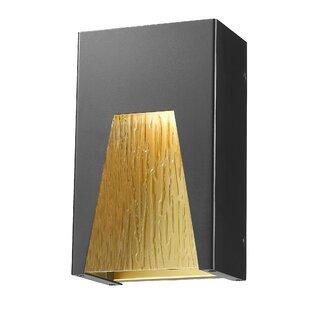 Willa Arlo Interiors Ajhar 1-Light Outdoor Flush Mount