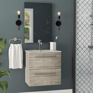 Kegler 20 Single Bathroom Vanity with Mirror by Wrought Studio