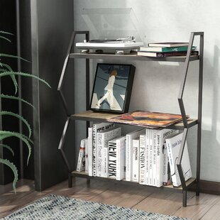 Citlali 3-Shelf Industrial Etagere Bookcase