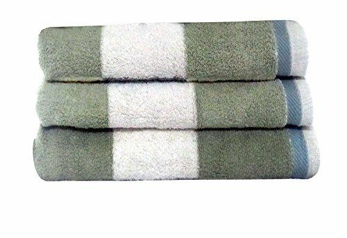 Charlton Home Moro Block Bath Towel  Color: Sage