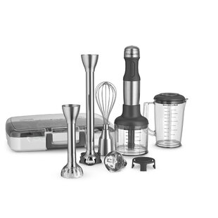 Stainless Steel 5-Speed Immersion Blender with 2 Blending Arms