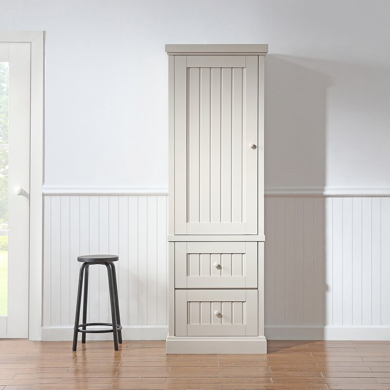 OVE Decors Henry Kitchen Narrow Pantry Cabinet In Grey ...