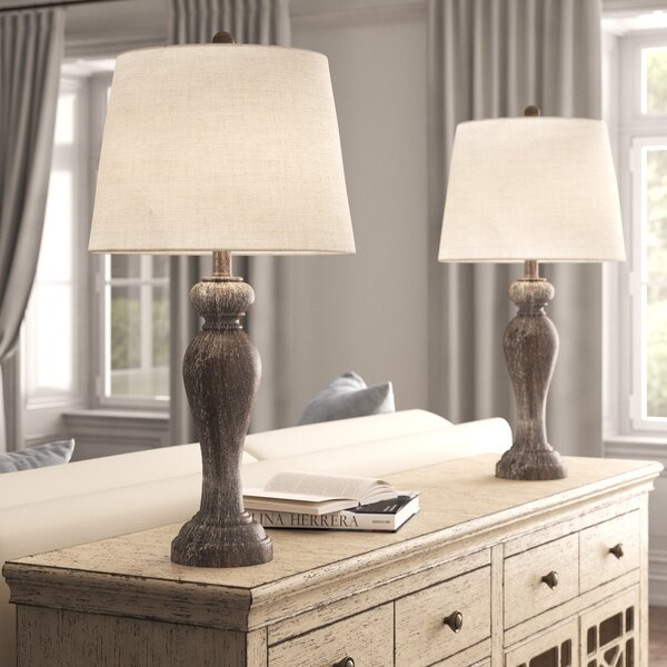 """kelly clarkson home joie 32"""" opal gray table lamp set"""