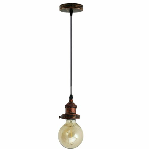 Culp 1-Light Bulb Pendant Borough Wharf Finish: Rustic Red