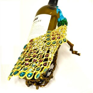 Eckhardt Peacock Tabletop Wine Bottle Rac..