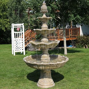 Astoria Grand Dussault Fiberglass/Resin 4 Tier Grand Courtyard Fountain