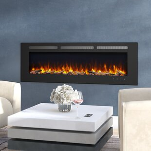 Orren Ellis Iserman Wall Mounted Electric Fireplace Insert