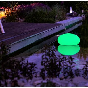 Faszcza White Solar Powered LED Outdoor Floating Light By Sol 72 Outdoor