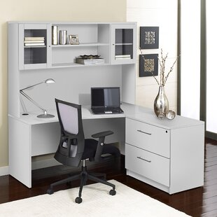 Marta 3 Piece L-shape Desk Office Suite by Comm Office New