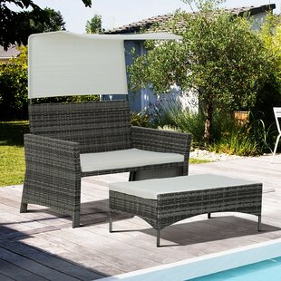 Cleveland 2 Seater Rattan Sofa Set By Sol 72 Outdoor