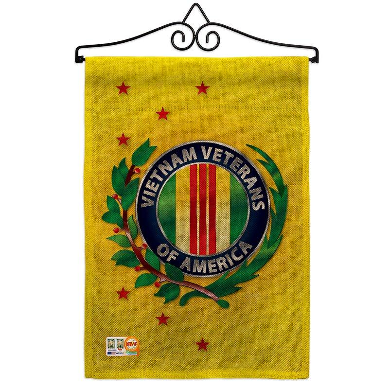 Breeze Decor Vietnam Veteran 2 Sided Burlap 19 X 13 In Garden Flag Wayfair
