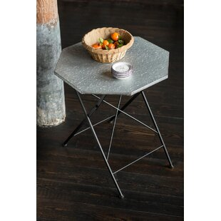 Bauxite Galvanized Hexagonal Folding Table