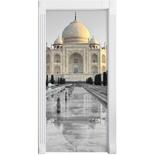 Taj Mahal In Quiet Surroundings Door Sticker By East Urban Home