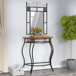 Affordable Dunlap Console Table and Mirror Set By Andover Mills