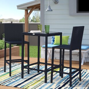 Hadlee 3 Piece Bar Height Dining Set by I..