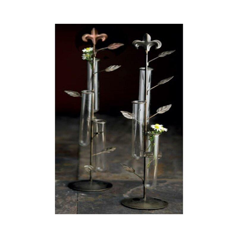 Astoria Grand Joliet Clear 18 Indoor Outdoor Metal Table Vase Wayfair