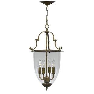 Bell Jar 4-Light Urn Pendant by Crystorama